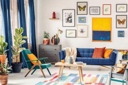 Tende blu per tutte le stanze?