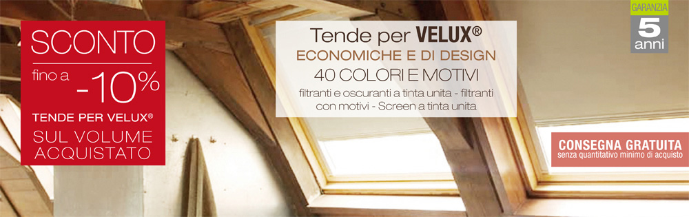 tende velux per interni
