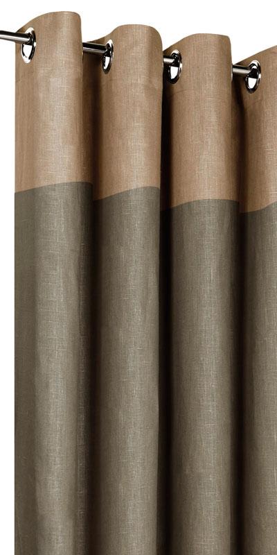 Tende in lino bicolori - Testa canapa