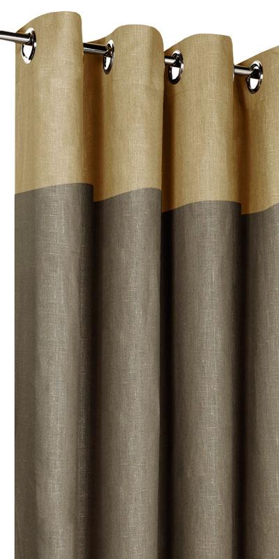 Tende in lino bicolori - Testa beige