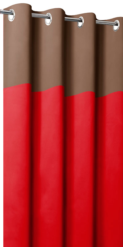 Tende oscuranti bicolori - Testa cioccolato